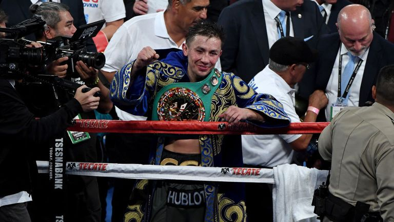 Golovkin has three of the four middleweight belts