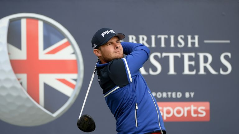 Tyrrell Hatton has lost the British Masters lead after the third round