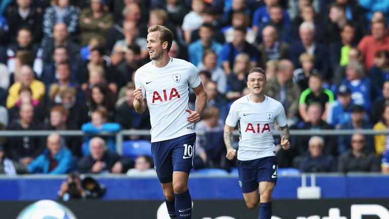 Harry Kane scored his 100th and 101st goals for Tottenham in the win over Everton
