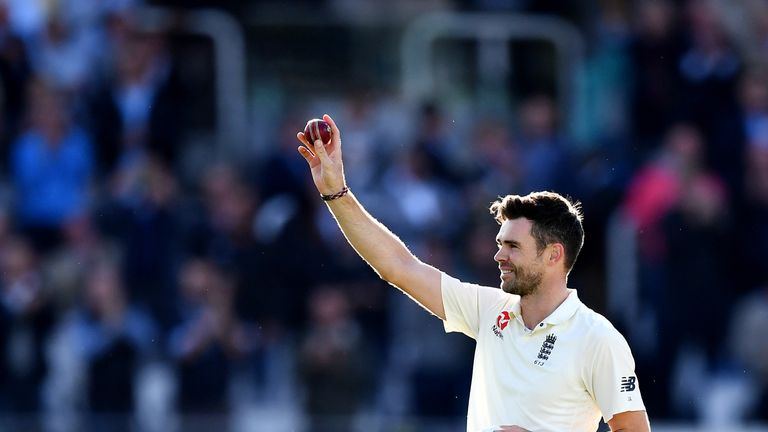 James Anderson became the first England player to reach 500 Test wickets