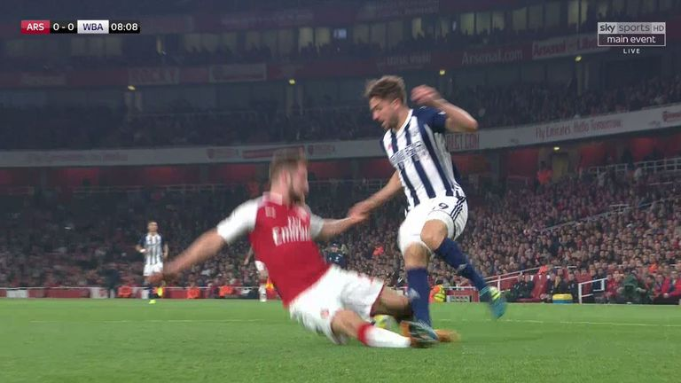 West Brom had a strong call for a penalty in the first half