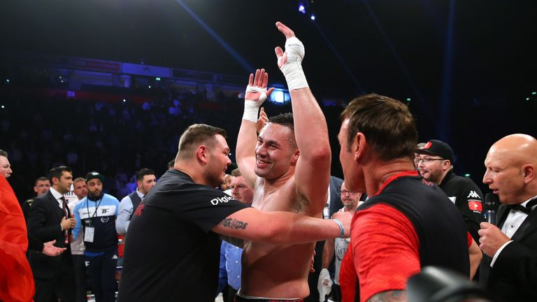 Parker celebrated a points win over Hughie Fury