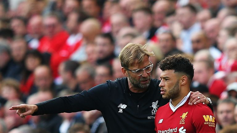 Oxlade-Chamberlain has played 57 minutes across three substitute appearances under Klopp