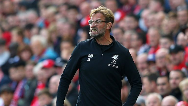 Klopp was left angry with Liverpool's performance