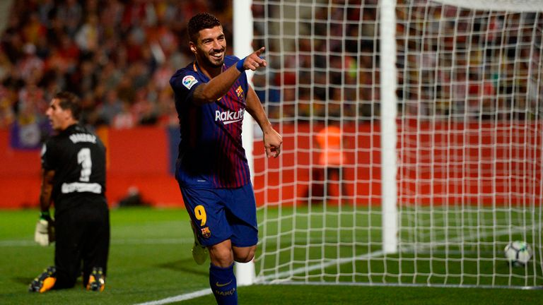 Luis Suarez scored on his return to the Barcelona starting line-up