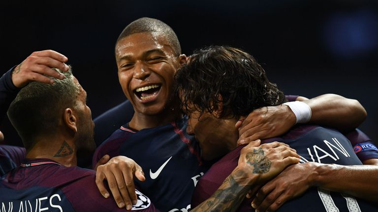 Kylian Mbappe moved from Monaco to Paris Saint-Germain over the summer