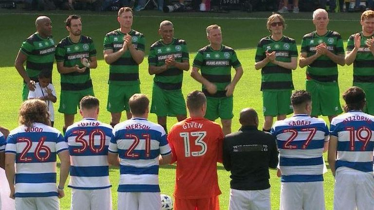 There was a minute's silence before kick-off in all those who tragically lost their lives in the Grenfell Tower fire in June