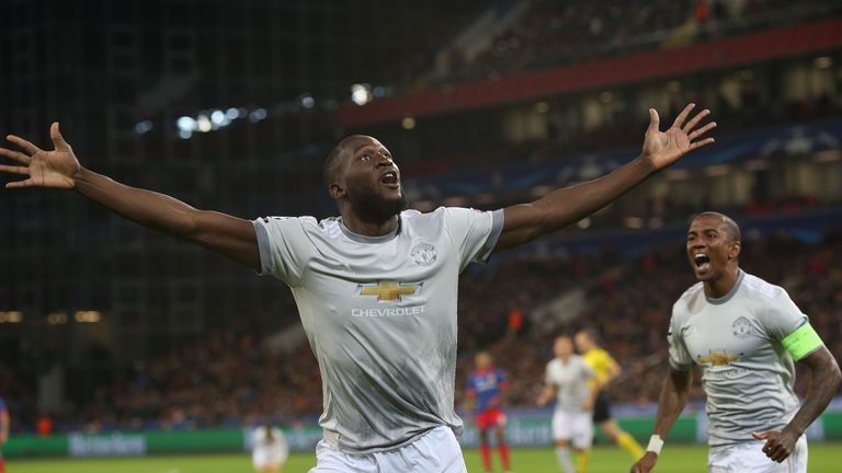 Romelu Lukaku scored in the midweek Champions League win