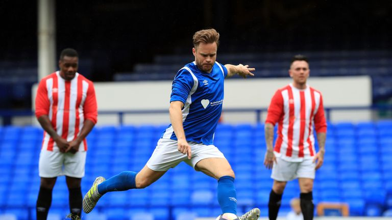 Lowery Legends beat Bradley's Blues in charity match at Goodison Park