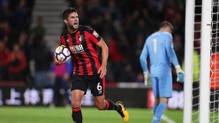 Andrew Surman scored his first Premier League goal to equalise for Bournemouth