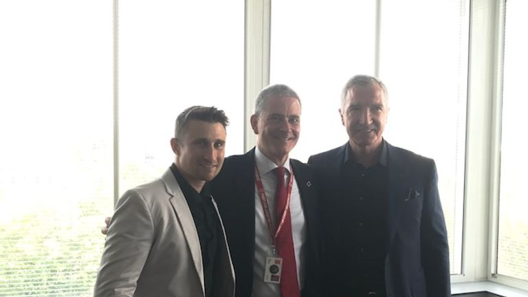 Former England cricketer James Taylor and Graeme Souness were at the British Heart Foundation event at St Thomas' Hospital