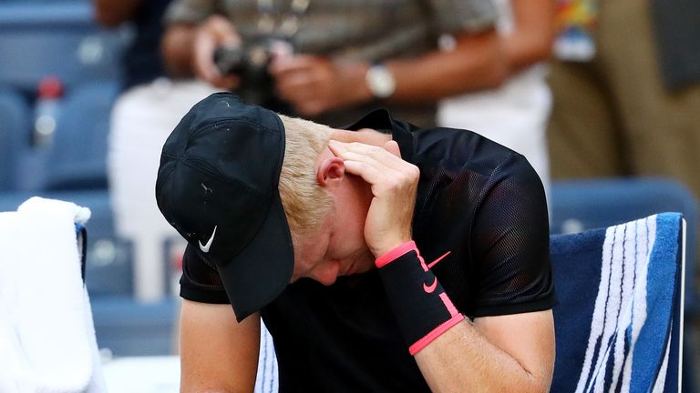 The US Open proved to be a pain in the neck for Kyle Edmund