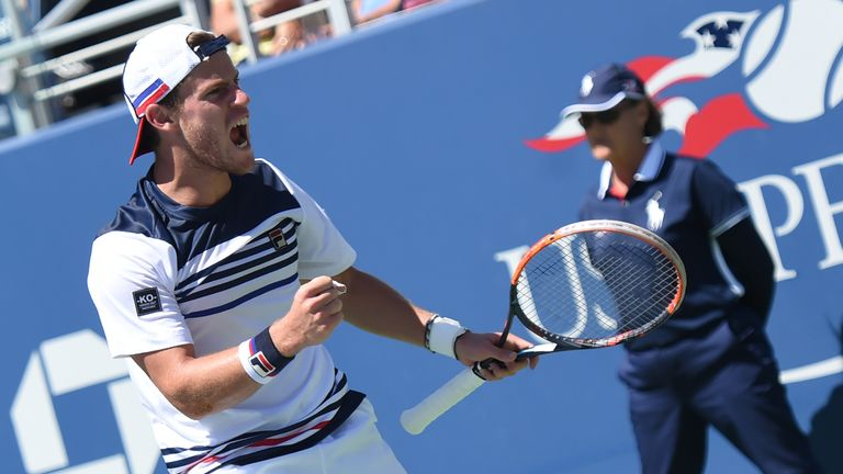 Schwartzman reached the last 16 of a Grand Slam for the first time