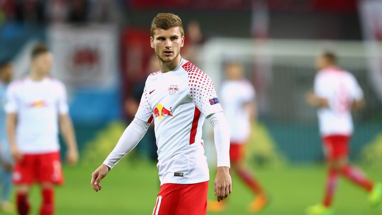 Werner in action for RB Leipzig