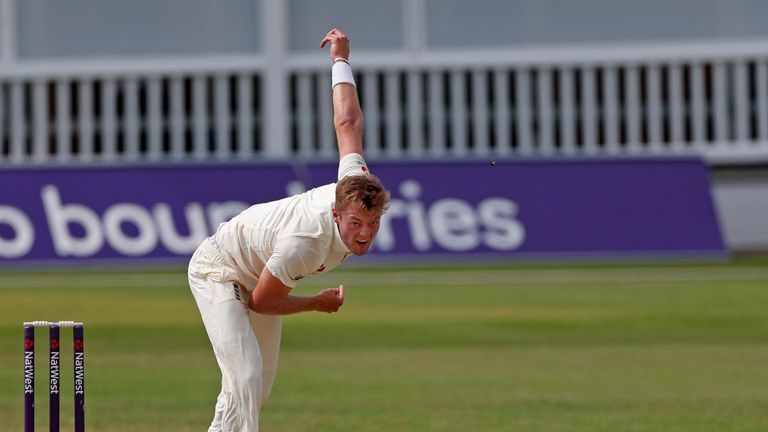 Tom Helm in action for England Lions