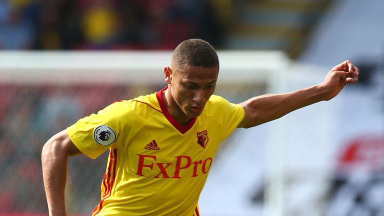 Watford's Richarlison started against Southampton