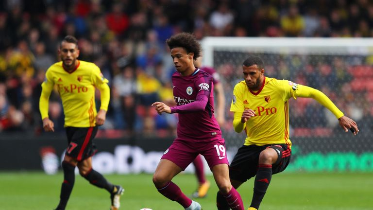 Manchester City beat Watford 6-0 in their last Premier League outing