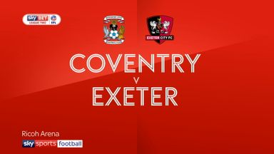Coventry 2-0 Exeter