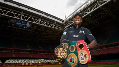 Anthony Joshua puts his world titles at stake against Carlos Takam in Cardiff on October 28, live on Sky Sports Box Office