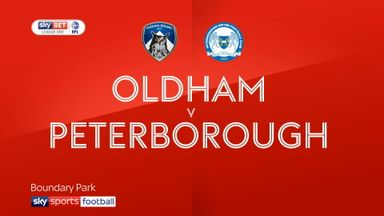 Oldham 3-2 Peterborough