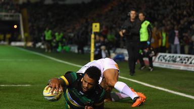 Courtney Lawes opened the scoring at Franklin's Gardens