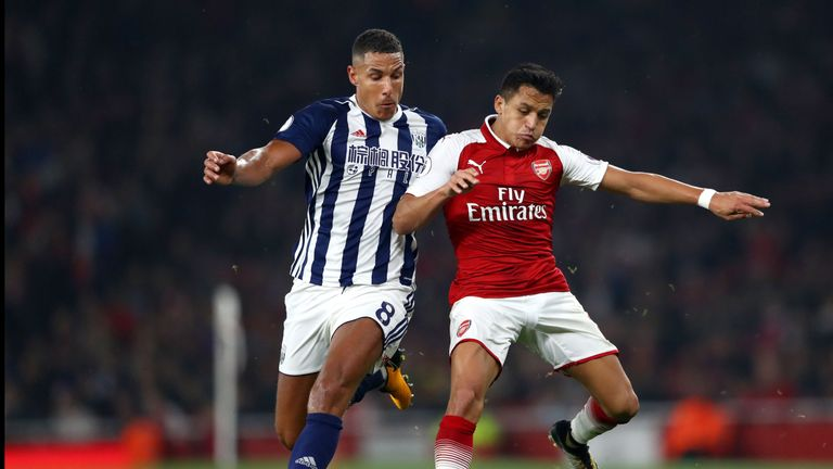 Alexis Sanchez made his first Premier League start of the season against West Brom
