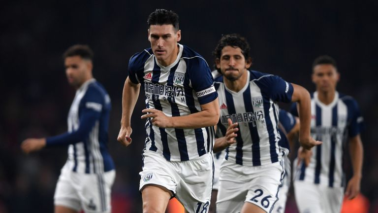 Gareth Barry of West Bromwich Albion