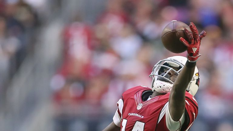 GLENDALE, AZ - DECEMBER 18:  Wide receiver J.J. Nelson #14 of the Arizona Cardinals is unable to make the catch in the second quarter during the NFL game a