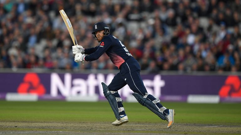 Opener Jonny Bairstow hits out during England's chase