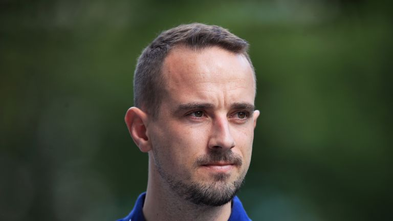 England Women manager Mark Sampson following a training session at St George's Park