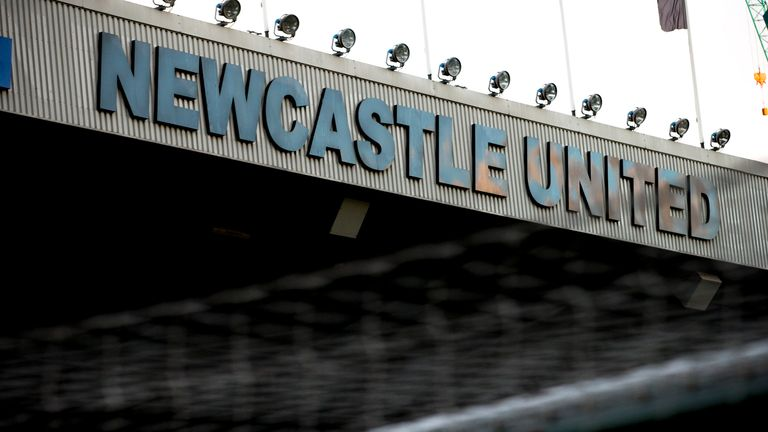 NEWCASTLE, ENGLAND - FEBRUARY 20:  General views of St James' Park before the Sky Bet Championship match between Newcastle United and Aston Villa at St Jam