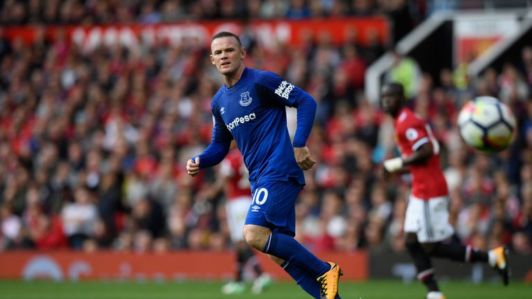 Wayne Rooney made his Old Trafford return with Everton on Sunday