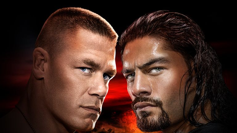 John Cena takes on Roman Reigns in a match that's sure to get the WWE fans booing.