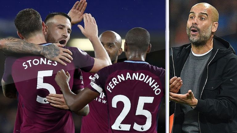 Pep Guardiola's Manchester City sit top of the Premier League