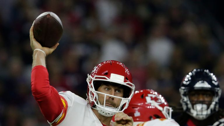 Kansas City Chiefs quarterback Alex Smith has struggled in recent weeks