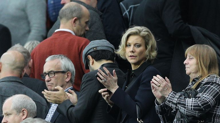 Amanda Staveley attended Newcastle's match with Liverpool on Sunday