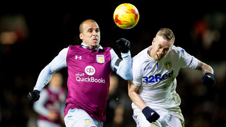 Leeds v Aston Villa will be shown live on  Sky Sports