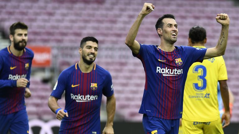 Barca beat Las Palmas in a behind-closed-doors La Liga game at the weekend