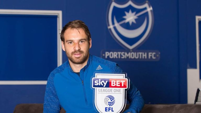 Brett Pitman won the Sky Bet League One Player of the Month award for September