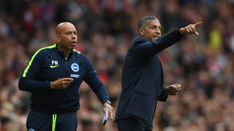 Chris Hughton says Brighton needed to capitalise more when they got into 'good areas' at Arsenal