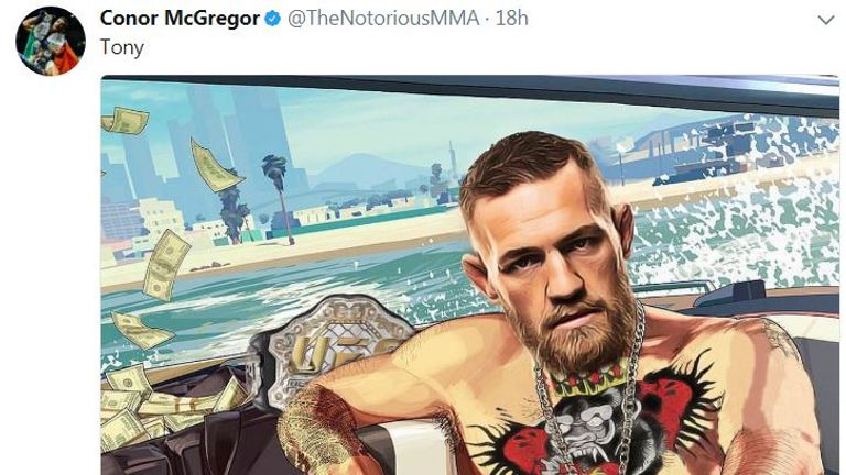 McGregor posted the cryptic message to his social media accounts alongside a cartoon of himself on a boat