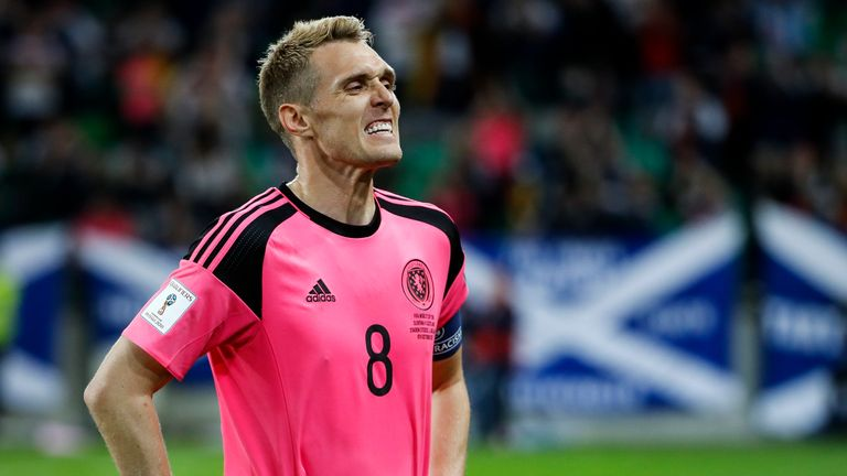 Darren Fletcher reacts after Scotland miss out on a play-off spot