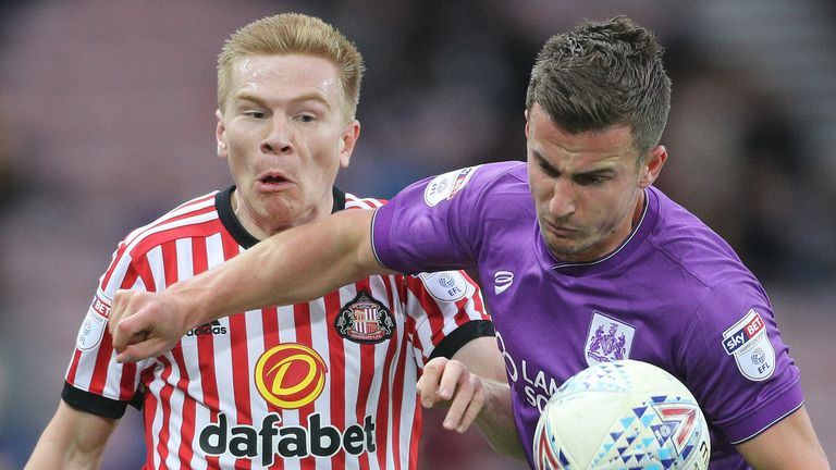 Sunderland's Duncan Watmore and Bristol City's Joe Bryan