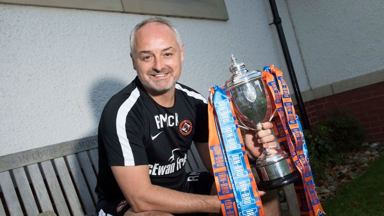 Ray McKinnon led Dundee United to the Scottish Challenge Cup last season