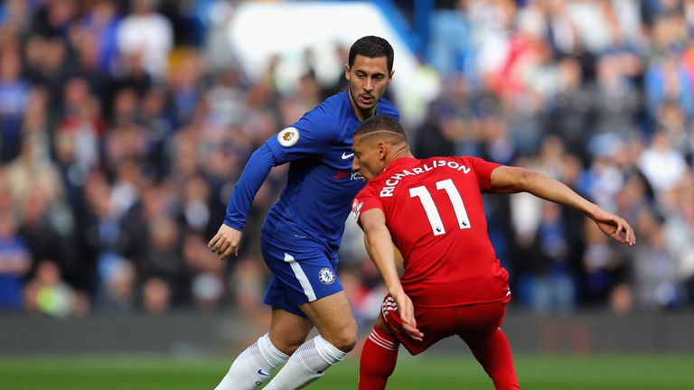 Eden Hazard insists he is enjoying life at Chelsea this season