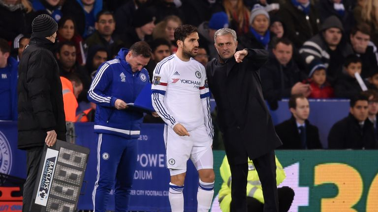 Cesc Fabregas has thanked Jose Mourinho for bringing back to English football