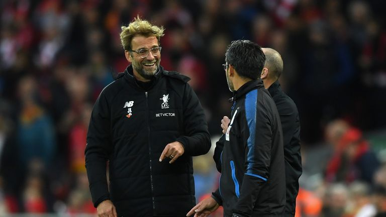 Jurgen Klopp got one over old friend David Wagner in their first meeting as managers