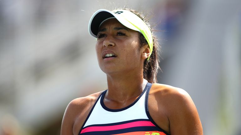 Heather Watson couldn't make the most of a lucky loser call into the main draw