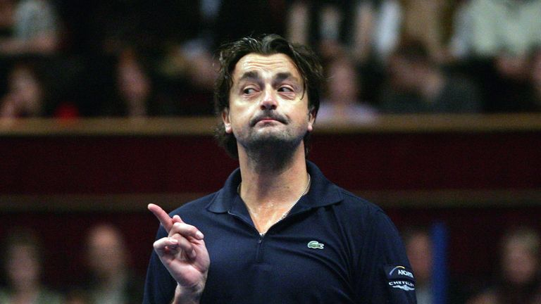 Frenchman Leconte made a guest appearance on Sky Sports during the Shanghai Masters