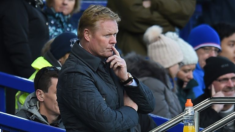 Everton's Ronald Koeman is feeling the pressure